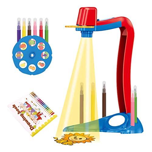 YJYQ Disegno Giocattolo Proiettore per Bambini,Proiettore da Disegno per Bambini,Macchina da Disegno per Imparare A Disegnare, Kit Proiettore per Tracciatura Artistica,9,84x12,20x1,97 Pollici