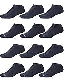 Reebok Men's Comfort Cushion No-Show Low Cut Basic Socks (6 Pack) (Shoe Size: 6-12.5, Solid Grey)'