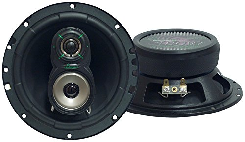 "Upgraded VX 6.5"" Pair 3-Way Speaker - Powerful 180 Watts Peak 4 Ohms 30 Oz Magnet Structure 50 -..."