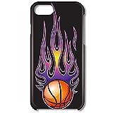 スマホ スマートフォン スマホ 黒ハードケース炎のスポーツシリーズ[黒] 【8005_炎のバスケッ……