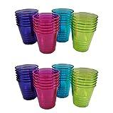 Momentum Brands Plastic Shot Glasses Multicolored Disposable Shot Glasses 1 oz Party Shot Glasses 48 Tasting Cups
