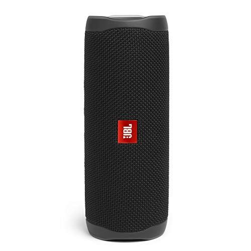 JBL Flip 5 20 W IPX7 Waterproof Bluetooth Speaker with PartyBoost (Without Mic, Black) (JBLFLIP5BLK)