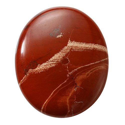 CrystalTears Red Jasper Oval Carved Thumb Worry Stone...