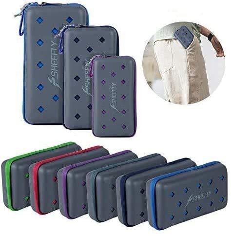 SHEEFLY Microfiber Sport Towel - Quick Dry, Ultra Light, Super Absorbent Towel+ EVA Case & Carabiner