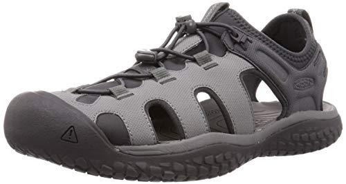 KEEN Men's SOLR High Performance Sport Closed Toe Water Sandal, Steel Grey/Magnet, 12