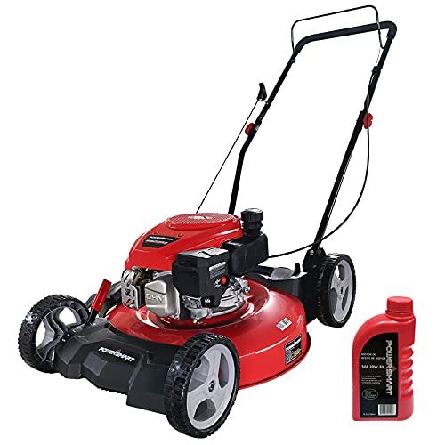 PowerSmart Push Lawn Mower Gas Powered - 21 Inch, Side...