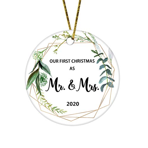JUPPE Our First Christmas As Mr & Mrs Ornament Newlywed...
