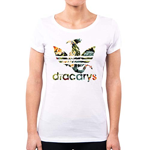 PacDesign Dracarys Flower PD1577A - Camiseta para Mujer, diseño de Juego de Tronos Blanco M