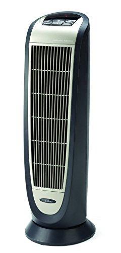 Lasko 5160 Ceramic Tower Heater with Remote Control, Black 5160