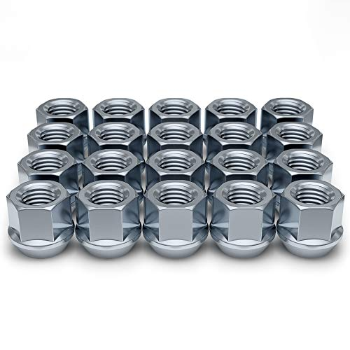White Knight Wheel Accessories 1304-1S Zinc 1/2'-20 Open End Bulge Acorn Lug Nut Pack