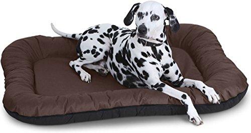 Knuffelwuff Hundebett Lucky In und Outdoor Hundekissen Hundesofa Hundekörbchen Hundekorb, Größe XXL Braun