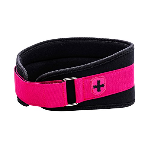 Harbinger Women's Nylon Weightlifting Belt with Flexible Ultralight Foam Core, 5-Inch, Pink, Medium