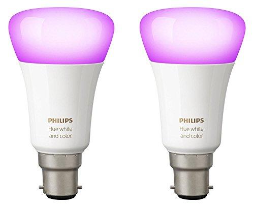 41U3lKtlPKL Bon Philips Hue !  Philips Hue Pack de 2 ampoules connectées White & Color B22 - Fonctionne avec Alexa