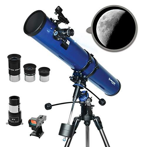 Meade Instruments Polaris 216004 - Telescopio, Reflector Azul, 114mm