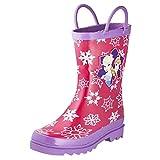 Disney Frozen Girls Anna and Elsa Pink Rain Boots - Sizes Infant Toddler (5 M US Toddler)