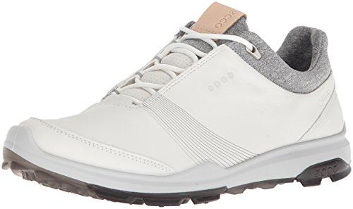 ECCO Women's Biom Hybrid 3 Gore-Tex Golf Shoe, White/Black Yak Leather, 41 M EU (10-10.5 US)