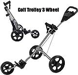 asdasd Chariot de Golf Chariots de Golf 3 Roues pivotantes Pliantes Chariot...