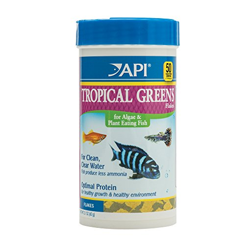 API TROPICAL GREENS FLAKES Tropical Fish Greens Flakes Fish Food