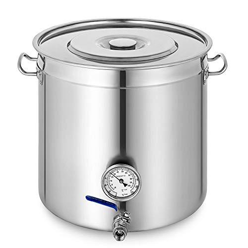OUKANING Pentola di Cottura con Termometro 70L Gastronomia Gulasch Stufato di Bollitore