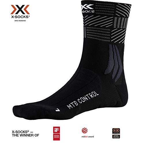 X-Socks MTB Control, Calzini da Ciclismo Unisex-Adulto, Opal Black/Multi, 39-41