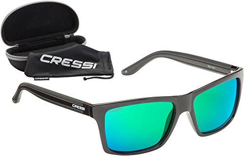 Cressi Unisex-Erwachsener Rio Sunglasses Sport Sonnenbrille Polarisiert und Antireflexion Sorgen für 100{0eefe30c5183436209641c44881e7f8432ce62545a011f3c38a1279a99a4ad95} igen Schutz vor UV-Strahlen, Schwarz/Linsen Grün, Einheitsgröße