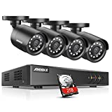 ANNKE 16-Channel HD TVI 1080N Video Security DVR Surveillance Camera Kit 4pcs 1080P Indoor Outdoor IR Weatherproof Cameras 66ft Night Vision with IR Cut, Motion Detect, 2TB Hard Drive Included