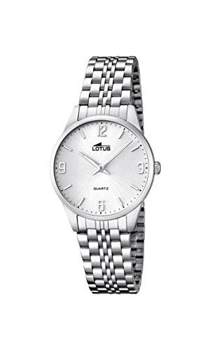 Lotus Damen Analog Quarz Uhr mit Edelstahl Armband 15884/2