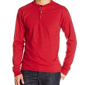 Hanes Men's Long Sleeve Beefy Henley Shirt 3