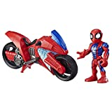 Marvel Super Hero Adventures - Spider-Man Swingin' Speeder (Playskool Heroes Super Hero Adventures, Personaggio da 12,5 cm con Veicolo)