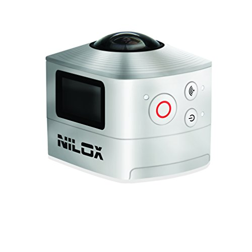 Nilox Action Cam Videocamera WiFi Full HD, 1920 x 1440 P, 30 fps, 8 MP, Argento