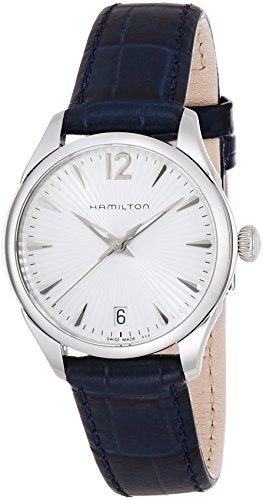 Hamilton Damen Analog Quarz Uhr mit Leder Armband H42211655
