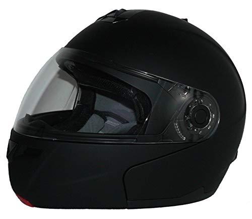 Protectwear H910-MT-M Casque de Moto Intégral Flip-Up, Jaune Fluo Brillant, Taille M
