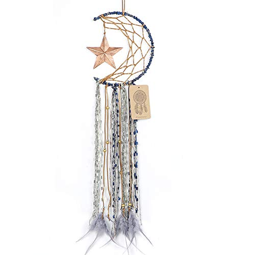 Dremisland Blue Dream Catcher Handmade Half Circle Moon Design...