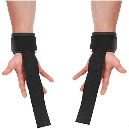 Neulife Matrix Weight Lifting Straps (1 Pair) for Wrist Support (Free Size, Black)
