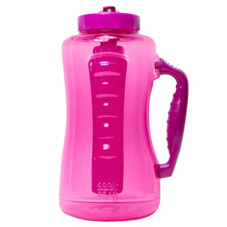 Cool Gear Big Swig EZ-Freeze Hydrate 64oz Water Bottle BPA Free with Twist and Lock Feature (Pink)