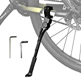LEICHTEN Adjustable Bike Kickstand Aluminum Alloy Bicycle Stand for 24' 26' 700c Mountain Bike/Road/BMX/Adults/City Bikes Storage Side Mounted Kickstand