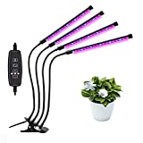ZHANGDA Éclairage 60 LED pour Plantes d'intérieur, avec 3 têtes de col de Cygne réglables, 3 Modes de minuterie, 9 Niveaux de Gradation pour Les semis et Les Plantes succulentes