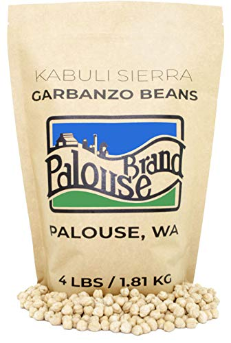 Garbanzo Beans | Non-GMO Project Verified | 100% Non-Irradiated | Certified Kosher Parve | USA Grown | Field Traced (4 lb Kraft Bag)