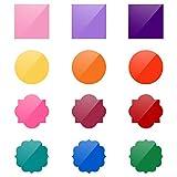 Demine 12pcs Stickers Muraux, Autocollants Décoratifs Marqueurs Colorés pour Tableaux Blancs, Tableaux Mémo Tableaux à Dessin Auto-adhésif Marqueur de...