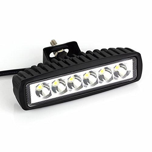 LiNKFOR 18W LED Faretto Auto 4WD 12V 24V Colore Bianco Spotlight Impermeabile Luce Esterno per Auto Fuoristrada Camion ATV