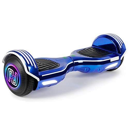 SISIGAD Hoverboard Self Balancing Scooter 6.5 Two-Wheel Self Balancing Hoverboard with Bluetooth...