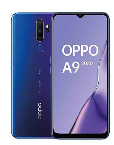 Oppo A9 2020 - Smartphone de 6.5'' HD+, 4G Dual SIM, 8 Core/ 128 GB/ 4 GB RAM/ 48 + 8 + 2 + 2 MP/ 16 MP, Púrpura Espacial