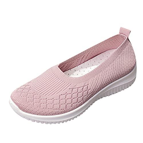 URIBAKY - Zapatillas deportivas de malla de color uniforme para...