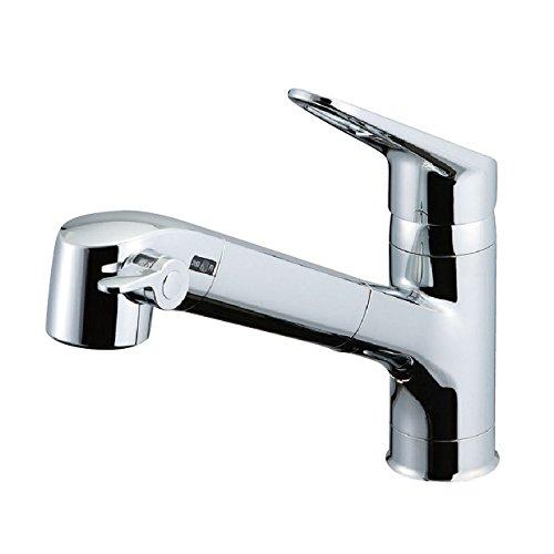 LIXIL(リクシル) INAX キッチン用 台付 浄水器内蔵シングルレバー混合水栓 エコハンドル 浄水 微細シャワー