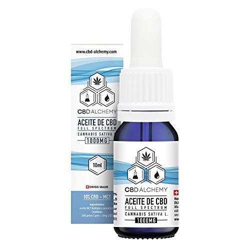 Aceite de CBD 10 ML   10% Extracto, 200 Gotas 1000 MG, Grandes Propiedades Curativas, Ayuda a la Relajación Natural, Reduce el Estrés y la Ansiedad - Hecho en Suiza