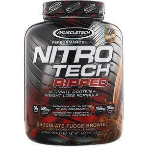 Nitro Tech Ripped (ニトロテックリップド) チョコレートファッジブラウニー 4 lbs (1.81 kg) 海外直送