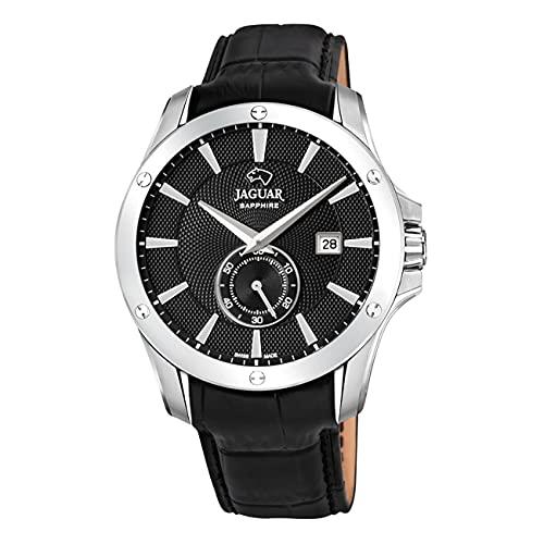 JAGUAR J878/4 Herren-Armbanduhr aus der Kollektion Acamar, Gehäuse 44 mm, schwarzem Lederarmband