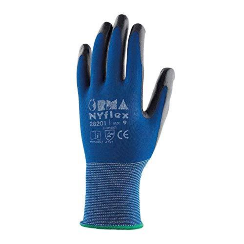 Orma 28201 Nyflex, Confezione da 12 Paia di Guanti, Protezione Meccanica, Nylon senza cuciture,...