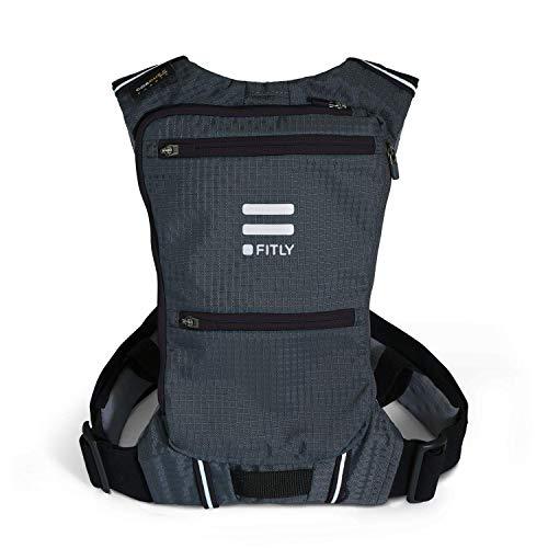 Fitly Minimalist Running Pack (Classy Black, M-L-XL)