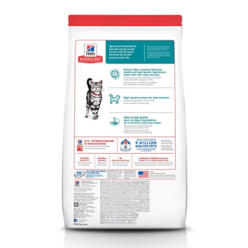 Product Image 2: Hill's Science Diet Adult Indoor Cat Food, Chicken Recipe Dry Cat Food, 15.5 Lb Bag